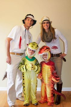Loving these dinosaur + trainer Halloween costumes.
