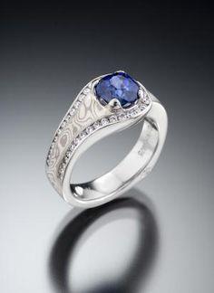 A Slideshow of a Dozen Engagement Rings for Brides Who Love Blue Gems: BLUE SAPPHIRE . . .