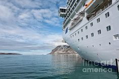 Beside the cruise ship in Magdalenafjord in Svalbard islands, Norway