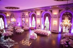 Royal Oak Wedding Photographers-Weddings by Adrienne & Amber #wedding #reception #thecolonyclub #colonyclub #uplighting #purple #photography #royaloak #detroit #couple #churches #bride #groom #macomb