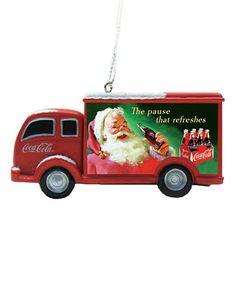 Look what I found on #zulily! Coca Cola Truck Ornament #zulilyfinds