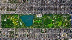 Central Park in New York City spans 843 acres. That's 6% of the island of Manhattan.