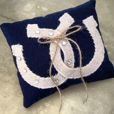 Rustic ring bearer pillow horseshoe by EandAHeritage on Etsy, $68.00