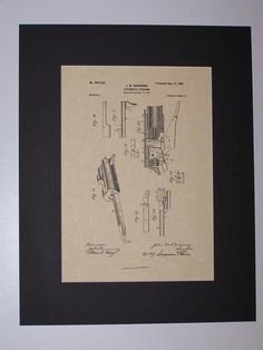 Browning Automatic Firearm 1901 sheet 4 Patent drawing HistoricPatentArt.com Gun