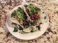 You know when you've got that 1 killer rib eye steak in the freezer, but you need to serve 3 people, soft taco's are the ticket. Taco Time, Steak Tacos, Ribs On Grill, Soft Tacos, Flour Tortillas, Taco Tuesday, Grilling, Ethnic Recipes, Food