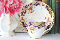 TEA CUP Vintage English Bone China Tea Cup & Saucer by Royal