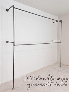Double Pipe Garment Racks + Closet Update