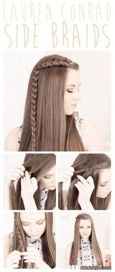 side braids hairstyle tutorial - 99 Hairstyles Ideas