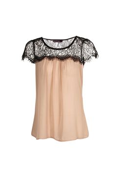Lydia Lace Trim Chiffon Blouse. This is cute and I would wear this!