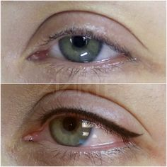 Tired of waking up every day to put on that makeup only to have your eyeliner fail? Do you wish you could just wake up with THE PERFECT eyeliner to accent the beauty of your eyes? We have your solution! Semi Permanent Eyeliner, Permanent Makeup Eyebrows, How To Apply Eyeliner, Eyebrow Makeup, Eyeliner Tattoo, Makeup Tattoos, Eyeliner Perfecto, Eyelash Enhancer, Eyeliner For Beginners