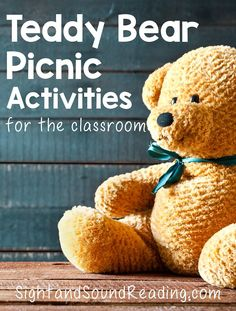 Preschool or Kindergarten Activity:  Teddy Bear Picnic Activities for Kindergarten: Fun activities to have a teddy bear picnic in a classroom. Great for preschool, kindergarten or first grade.
