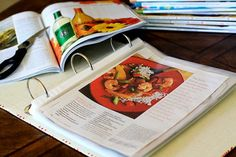 I have lots of pages torn from magazines. Should do this. Hate the piles of pages!