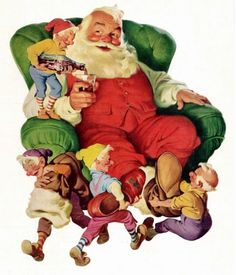 In 1931, the Coca Cola Company commissioned Haddon Sundblom, a Michigan-born illustrator and already a creative giant in the industry, to develop advertising images using Santa Claus. Sundblom envisioned this merry gentleman as an opposite of the meager look of department store Santa imitators from early 20th century America.