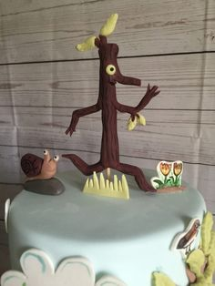 Stick Man cake for a christening! My favourite it a while. #paintedcakes…