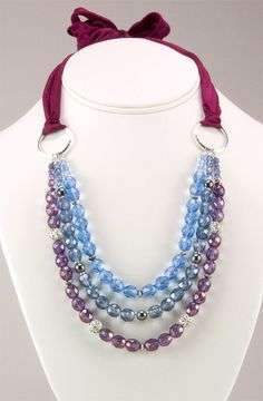 Free Bead Jewelry Making Ideas | Wine Country Necklace