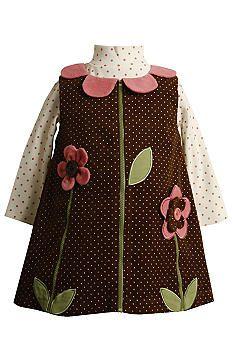 0a0d2ec084a Bonnie Jean® Flower Jumper Dress Toddler Girls  28.80 Sewing Doll Clothes