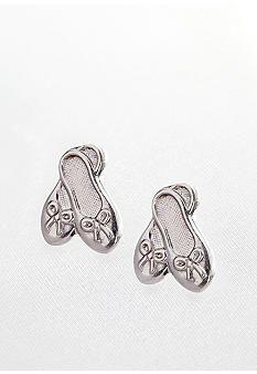 Belk & Co. Sterling Silver Children's Ballet Slipper Earrings #belk #accessories #kids