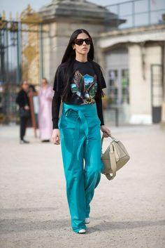 Paris Fashion Week H/W 2015/16: Paris Street Style | Harper's BAZAAR
