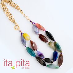 Llena tu look de color con este collar de Ita Pita. #Itapita