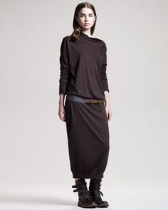 Call me crazy… but I love it! Brunello Cucinelli Long Cashmere-Silk Sweaterdress - Neiman Marcus