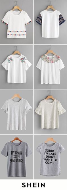 Cheap T-shirts start at $6! Cheap T Shirts, Cute Shirts, Back To School Outfits, Outfits For Teens, Cool Outfits, Diy Roupas, School Fashion, Types Of Fashion Styles, Diy Clothes