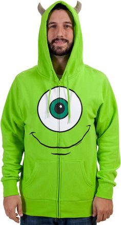 Mike Wazowki Monsters Inc Costume Hoodie