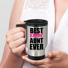 Aunt Travel Mug, Gift for Aunt, Funny Travel Mugs, Mugs With Sayings, Gag Gifts for Women, Quirky Gifts, Inappropriate Gifts, Mugs For Women https://etsy.me/2jop43T #housewares #birthday #mothersday #inappropriatemugs #gaggiftsforwomen #mugsforwomen
