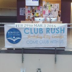 BCC Students! Club rush is coming up next week at the Atrium.  This event is hosted by the Associated Students of Berkeley City College Student Government. by dimc17