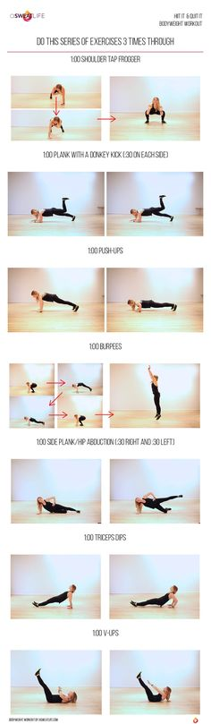 A Total Body Bodyweight Workout with abs, legs, arms and more - A Sweat Life