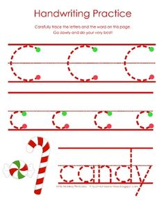 This is a set of activities that I made for my children to use at home in the days leading up to Christmas. There are several candy/candy cane rel...