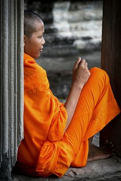 """""""buddhist monk at angkor wat - cambodia""""   steven goethals"""