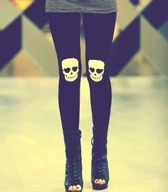 knee skull tights