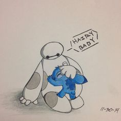 Baymax and Stitch by kittyreader99 on DeviantArt
