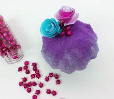 La zucca decorata con i glitter