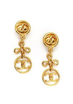 CHANEL  CC Dangle Earrings  $699.99