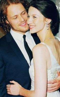 Sam & Cait at Outlander screening in NYC