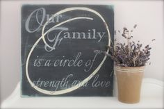 Family Quote Sign Wood Wall Art Wood Sign Vintage by InMind4U