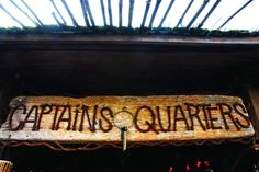 Captain's quarters sign for the Pirate Captain theme room