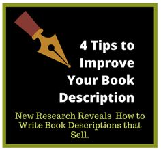 4 tips for improving book descriptions
