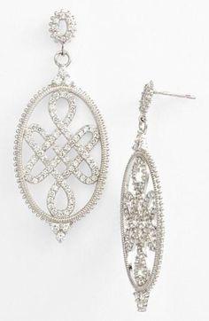 'Love Knot' statement earrings