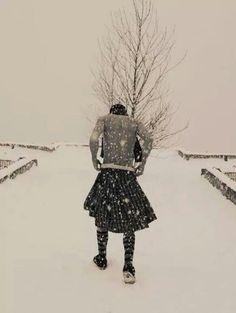 Man and his kilt...