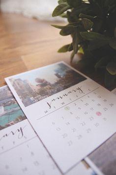 DIY 2014 Desk Calendar // aprileveryday.com
