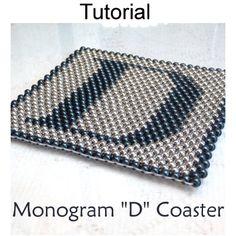 Beaded Letter D Coaster PDF Beading Pattern