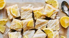 If you're craving something sweet and lemon but need a super quick and simple recipe, these lemon sugar cookie bars are for you! Summer Dessert Recipes, Lemon Desserts, Spring Recipes, Fun Desserts, Holiday Recipes, Snack Recipes, Fruit Dessert, Vanilla Recipes, Lemon Recipes