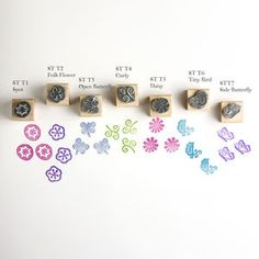 Tiny Rubber Stamps; Birds Butterflies And Flowers - styling your day