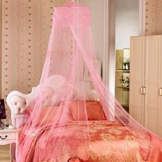 Mother & Kids Able Baby Bed Mosquito Net Kids Bedding Round Dome Hanging Bed Canopy Curtain Chlildren Baby Room Decoration Crib Netting Tent Agreeable To Taste Baby Bedding