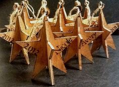 Wooden Ornaments by JessiJamesWoodworkin on Etsy, $10.00