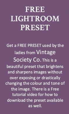 This is a Free Preset for Lightroom that is being offered. This preset brightens and sharpens images and works best on home decor style images. Christmas Gift Guide, Christmas Decor, Halloween Buffet, Crisp Image, Home Decor Styles, Vintage Photography, Lightroom Presets, Fall Decor, Vintage Style