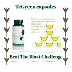 Beat The Bloat With The Lean Green Challenge 30 days taking one of our TeGreen Capsules ⭐️Watch the bloat reduce ⭐️improve your metabolism ⭐️watch your energy levels rise ⭐️boost your immune system. capsule is the equivalent to 7 CUPS ☕️️of green tea Tegreen Capsules, Green Tea Capsules, Nu Skin, Beauty Box, Beauty Skin, Ageless Beauty, Busy At Work, Healthy Lifestyle Tips, Boost Metabolism