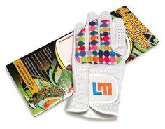 Mens & Womens Golfing Gloves by Loudmouth Golf - Disco Balls White.  Buy it @ ReadyGolf.com